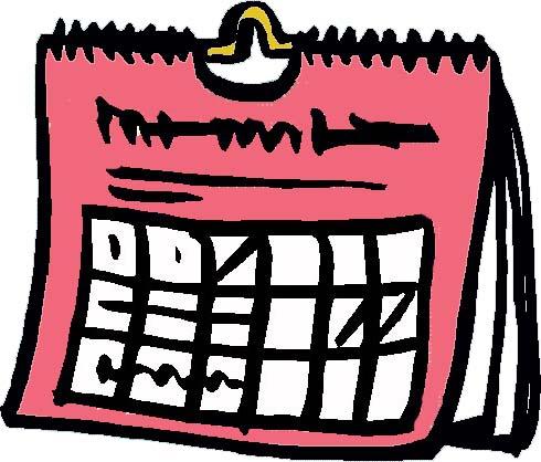 Clip art calendar clipart