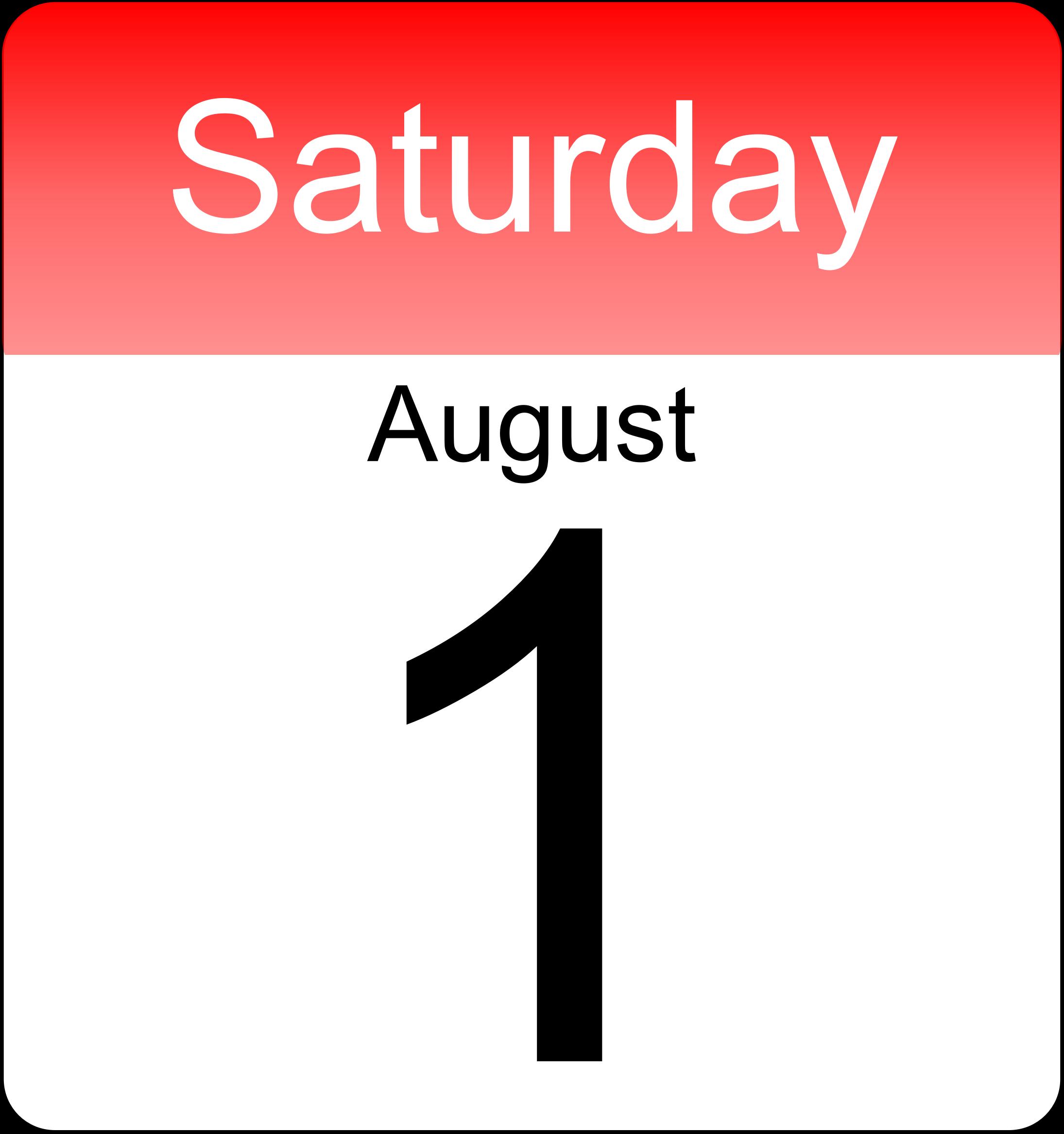 Clipart day calendar