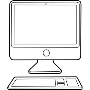 Computer vector clipart
