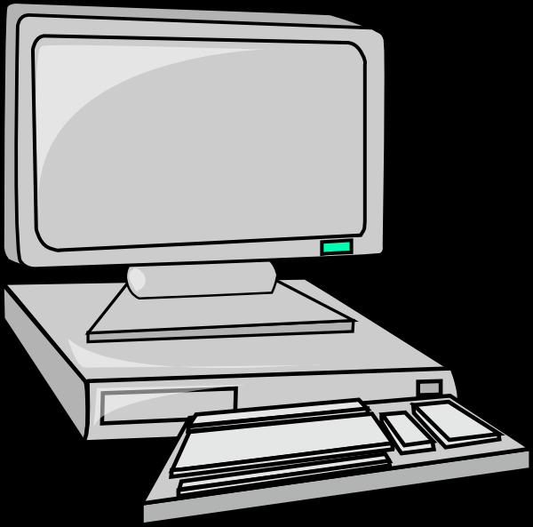 Desktop computer clip art  2
