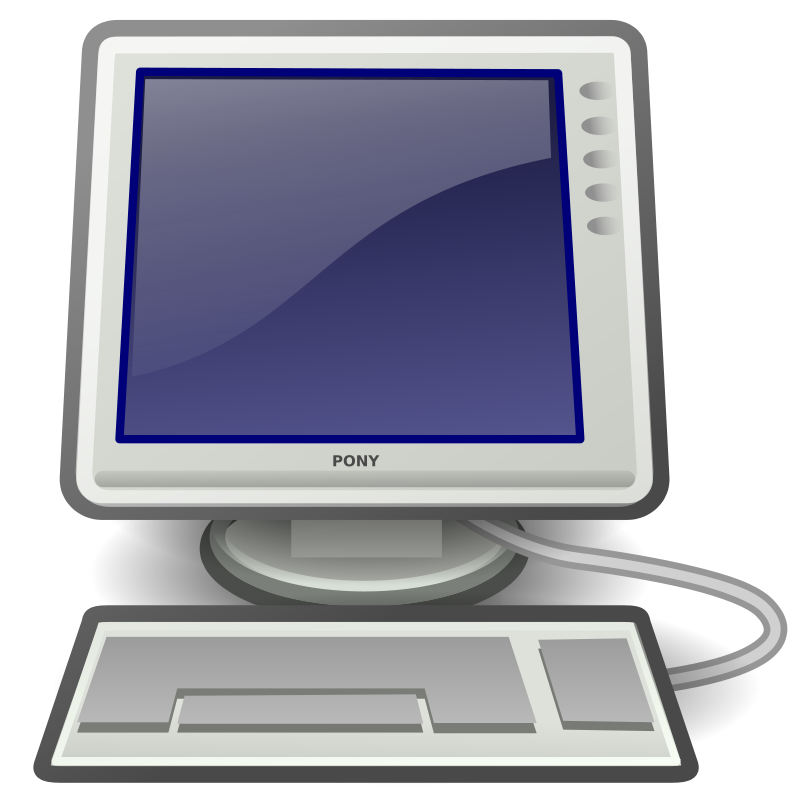 Desktop computer clip art  3