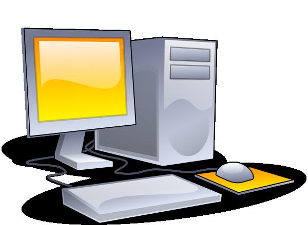 Desktop computer clip art at vector clip art online