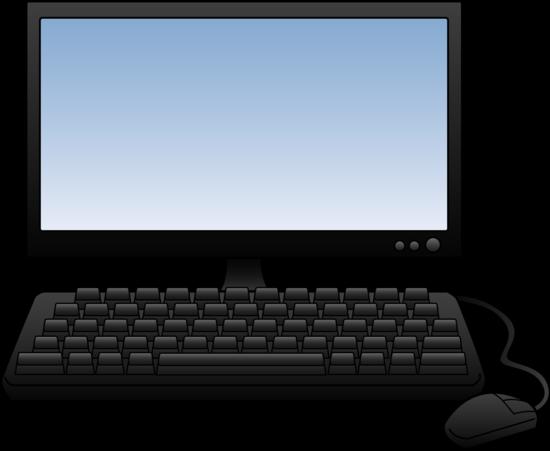Desktop computer design free clip art