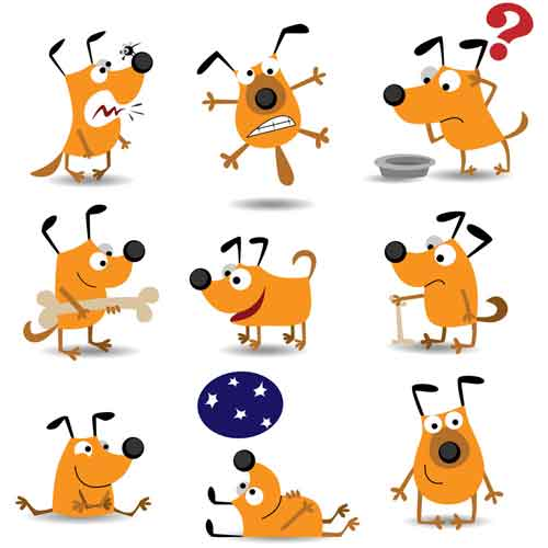Funny dog clip art clipart