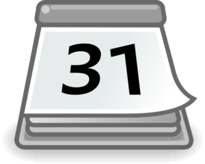 Office calendar clip art at vector clip art online
