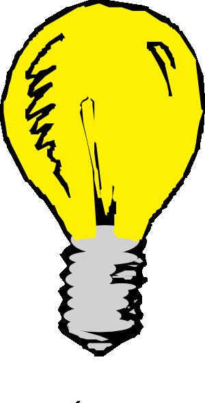 Light bulb clip art free vector 2