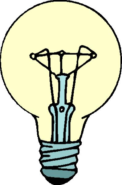 Light bulb lightbulb clip art free vector