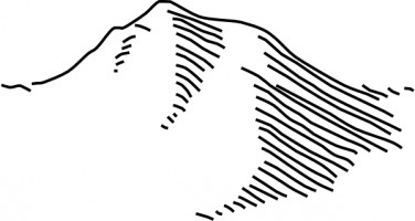 Black and white mountain clip art free vector for free download
