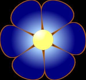 Blue flower clip art at vector clip art online