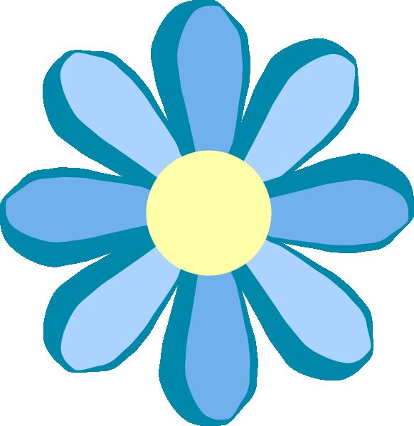 Blue flower clipart clipart