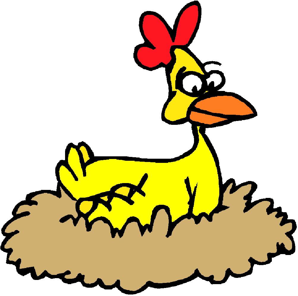 Chickens clip art 2