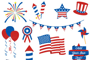 Fourth july 4th of july clipart products creative market