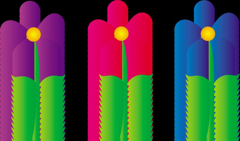 Free flower clip art borders