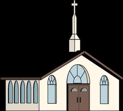 Image white church church clip art
