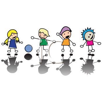 Kindergarten kids clip art clipart