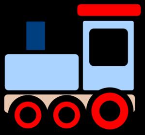 Little blue train clip art high quality clip art