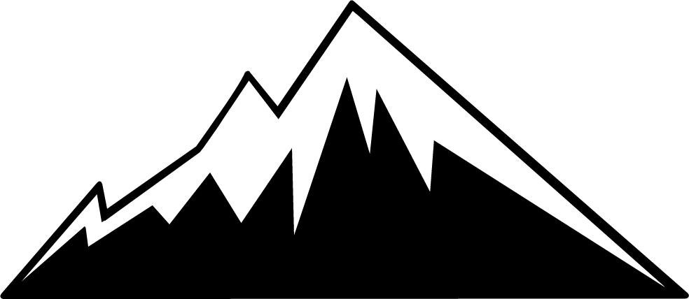 Mountain silhouette clip art clipart