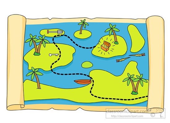 Pirates treasure map clipart classroom clipart