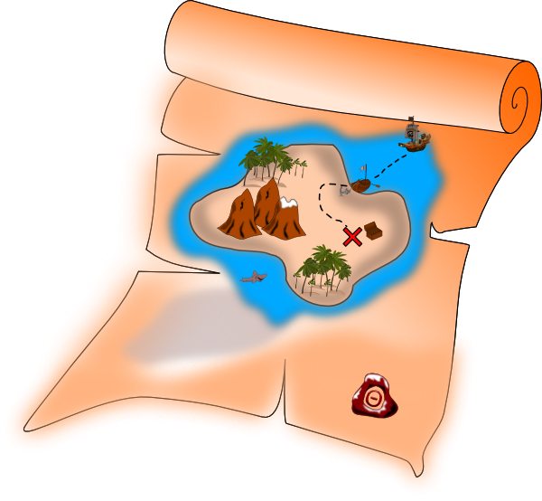 Treasure map clip art  2