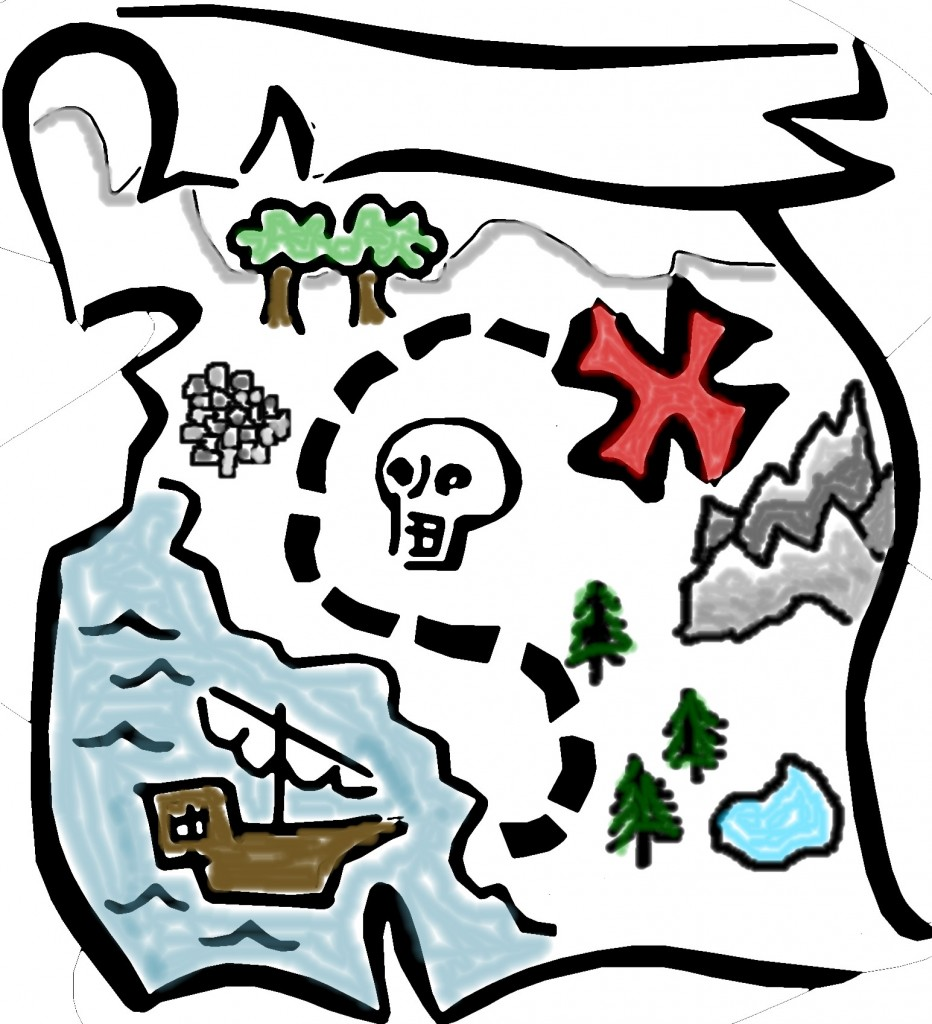 Treasure map clipart we run eventswe run events