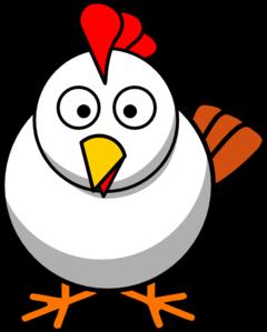 White chicken clip art at vector clip art online