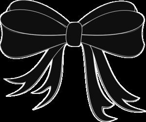Black bow ribbon clip art at vector clip art online