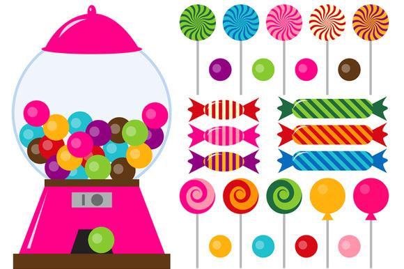 Candy digital candies clip art illustrations on creative market
