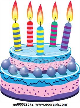 Clip art vector vector birthday cake stock gg