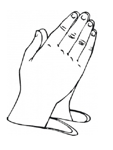 Free coloring pages of tcross and praying hands