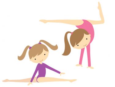 Gymnastic gymnast clip art