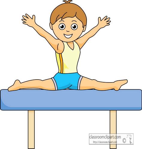 Gymnastics clipart boy on balance beam gymnastic classroom clipart