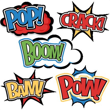 Large superhero words