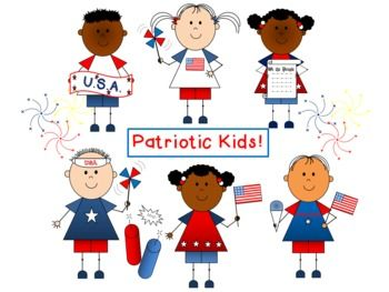 Memorial day patriotic kids clip art by busy bee clip art constitution day
