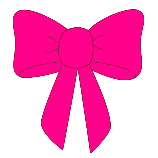 Pink bow clipart clipart
