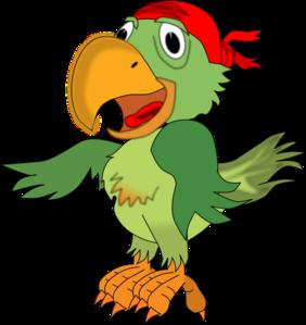 Pirate parrot clip art at vector clip art online