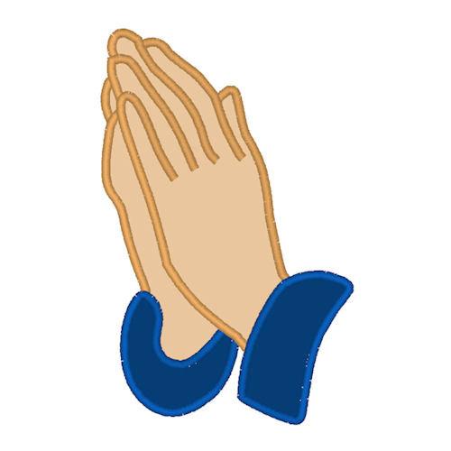 Praying hands prayer digitized applique by appliquesanonymous