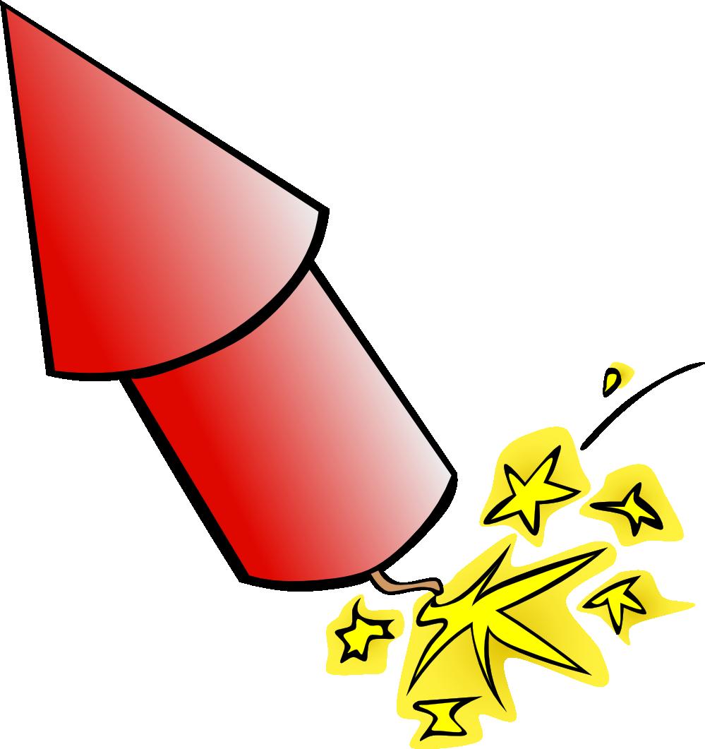 Rocket fireworks clip art clipart