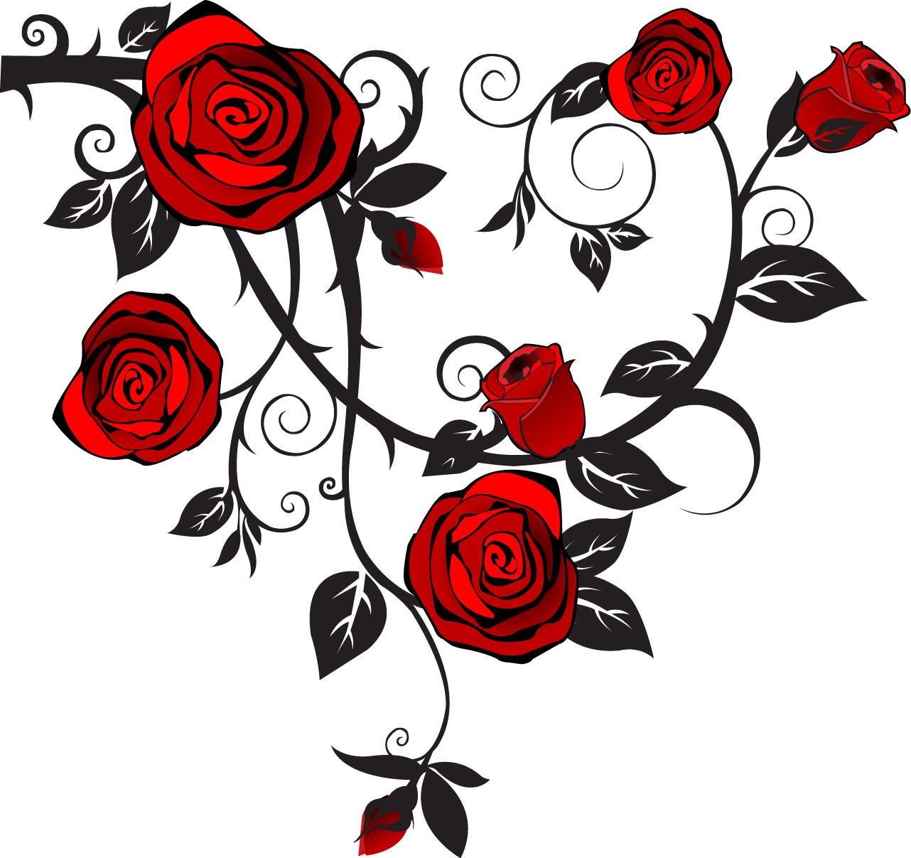 Single rose clip art free clipart images image #3329