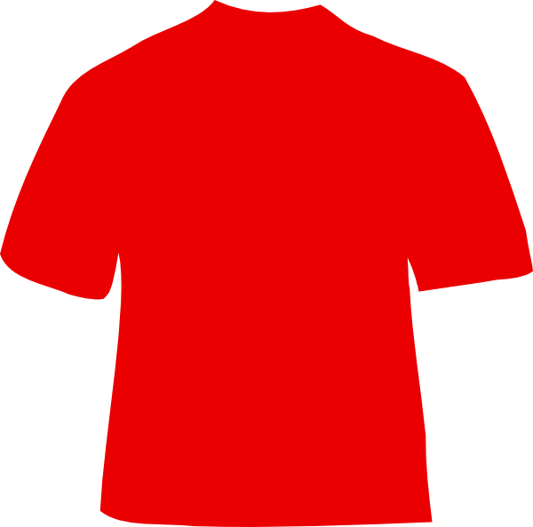 T shirt red shirt 2 clip art at vector clip art online