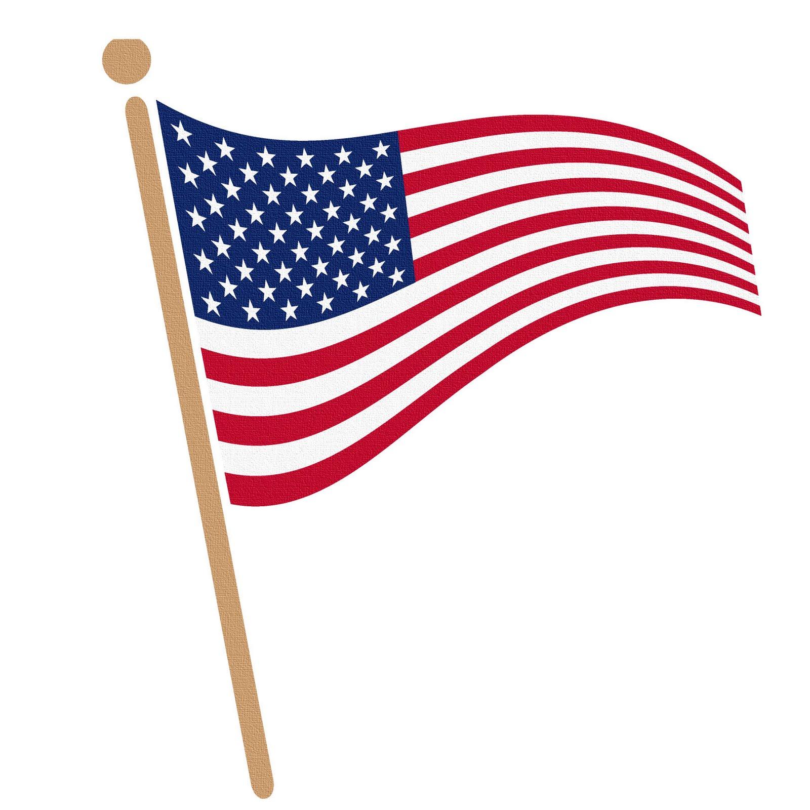 American flag clip art vector