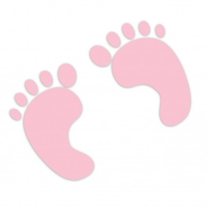 Baby girl footprints clipart