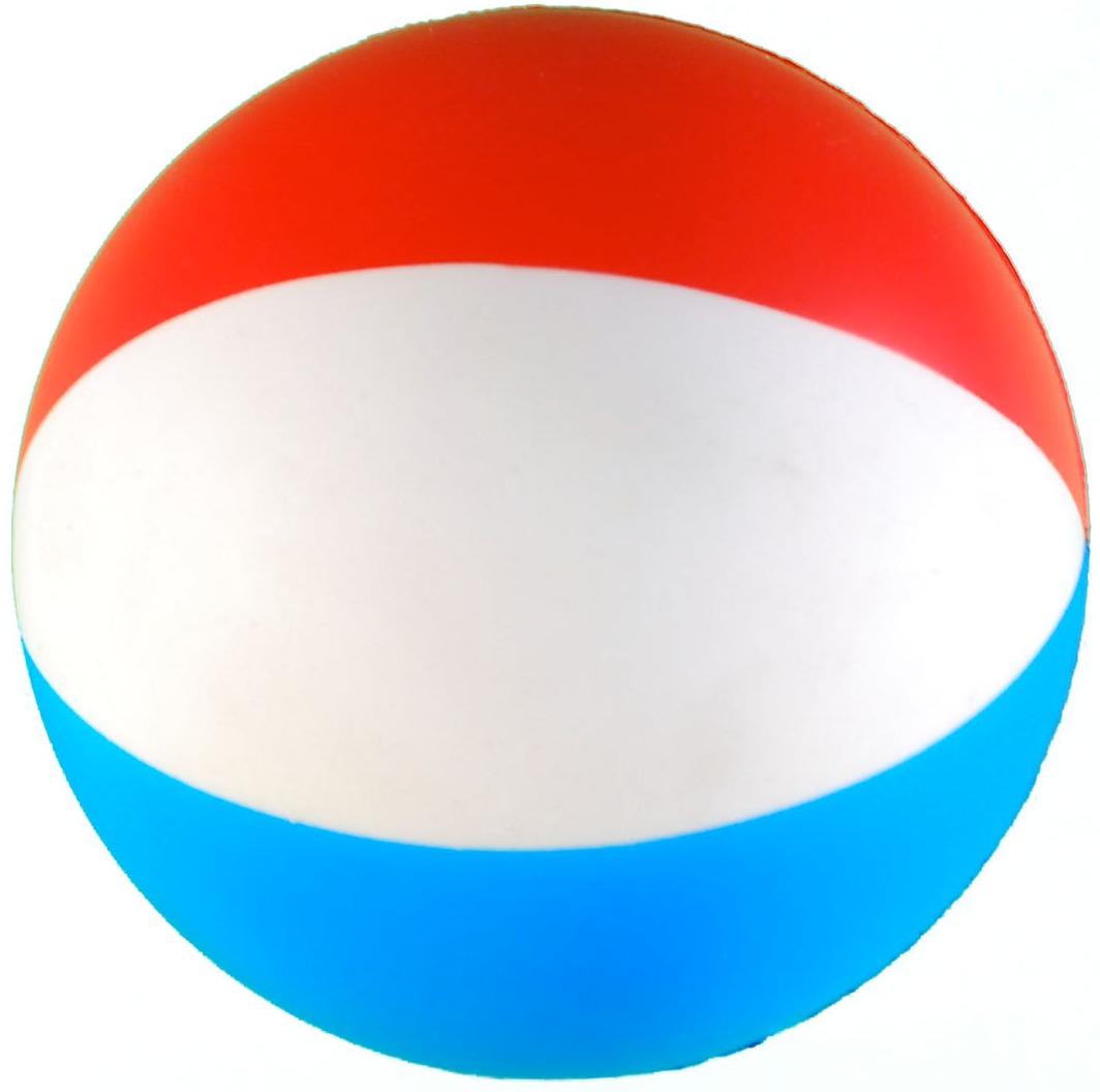 Beach ball squeezie stress reliever custom printed beach ball