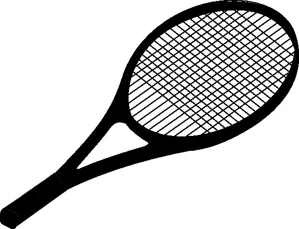 Black tennis racket clip art at vector clip art online