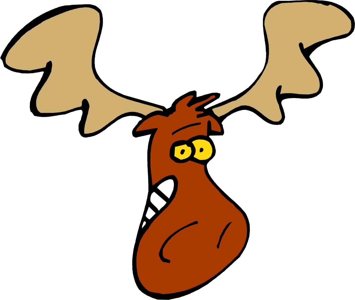 Cartoon moose head clip art graphics clipart ajilbabcom portal