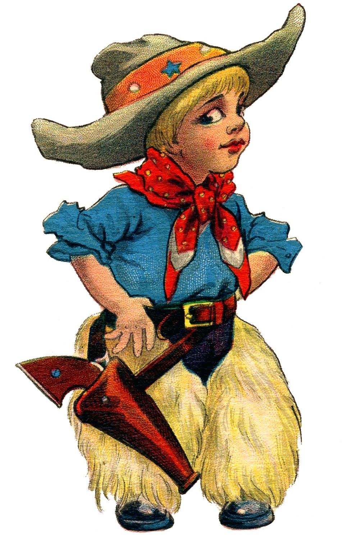 Cowboy little vintage graphicsfairyc