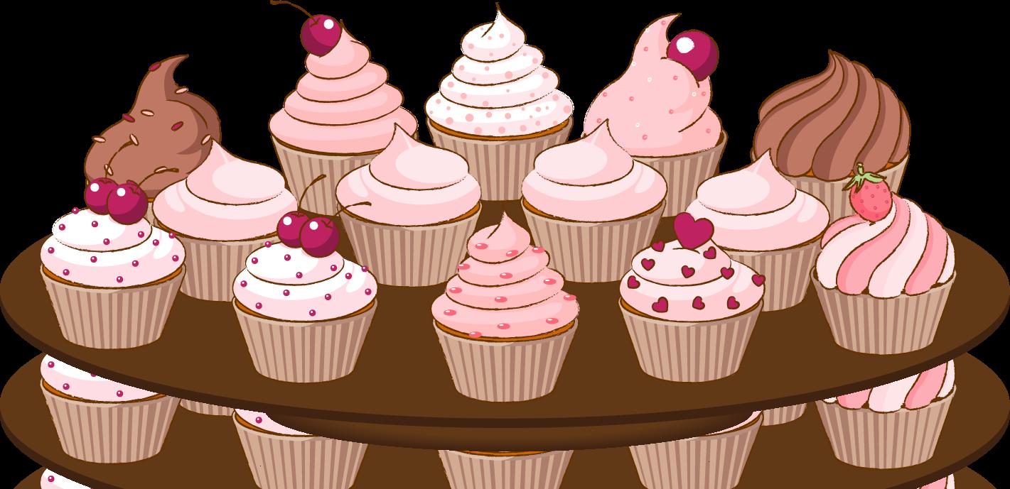 Cupcake clipart border clipart