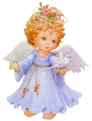 Cute angel with dove free clipart picture 0