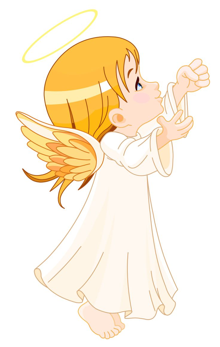 Cute little angel large size clipart angel