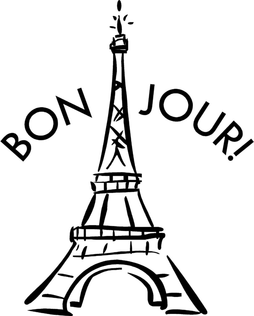 Drawings of the eiffel tower clipart