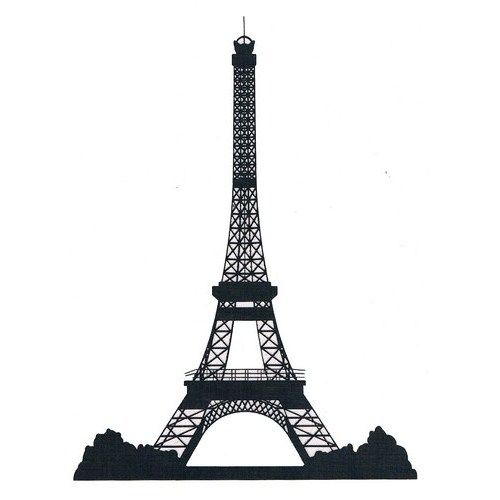 Eiffel tower black clipart